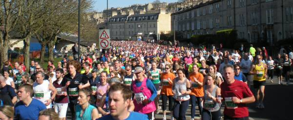 Bath Half Marathon Runners in 2009 on Pulteney Road