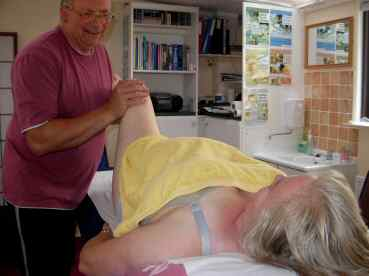 Spinal Touch Treatment on a Pregnant Patient